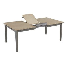 Rectangular Dining Table - Linen/Weathered Gray Finish