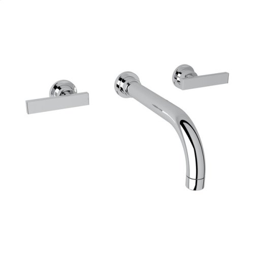 Polished Chrome Pirellone Wall Mount Widespread Lavatory Faucet