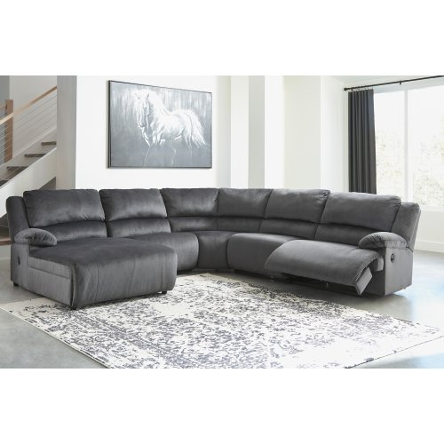 LAF Chaise 5 Pc Reclining Sectional