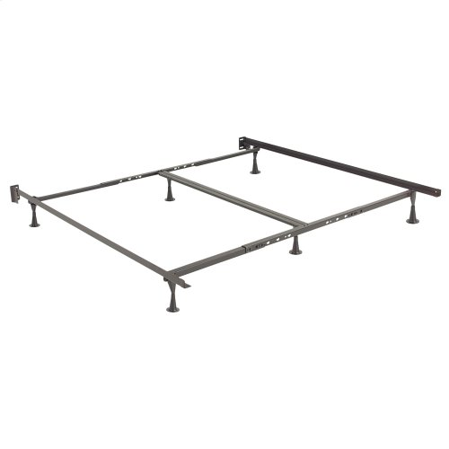 Restmore Adjustable Bed Frame 806G with Double Center Support and (6) Leg Glide Legs, Queen - King