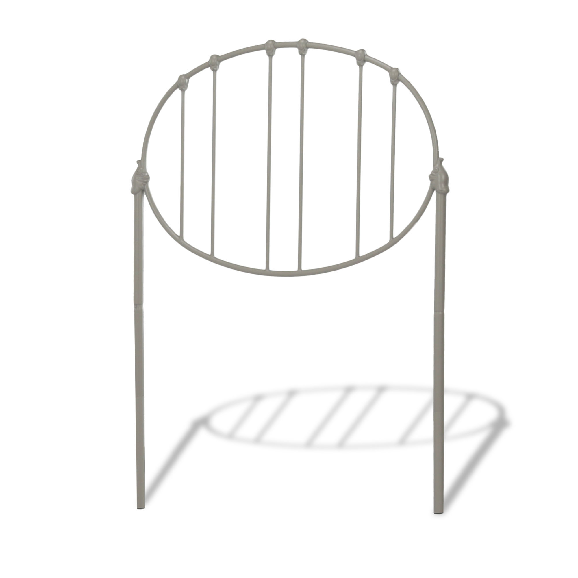 B10J33 In By Fashion Bed Group In Dickson, TN   Emory Kids Bed With Metal  Duo Panels And Oval Shape Design, Grey Finish, Twin