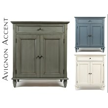 Avignon Storm Grey Accent Cabinet