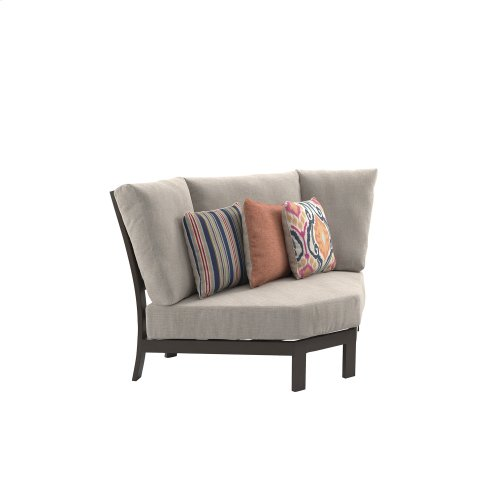 Curved Corner Chair w/Cushion