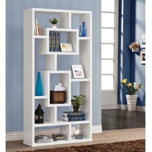 CoasterGeometric Cube White Bookcase