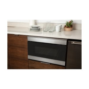 SHARP24 in. 1.2 cu. ft. 950W Sharp Stainless Steel IoT Easy Wave Open Microwave Drawer Oven