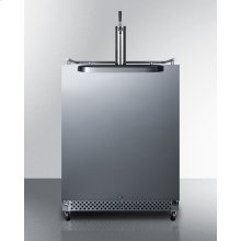 Outdoor/indoor Commercial Beer Dispenser for Built-in or Freestanding Use, With Complete Tap Kit, Digital Thermostat, and 304 Grade Stainless Steel Exterior