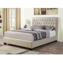 Chloe Transitional Oatmeal Upholstered Full Bed
