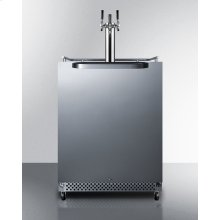 Outdoor/indoor Commercial Beer Dispenser for Built-in or Freestanding Use, With Complete Triple Tap Kit, Digital Thermostat, and 304 Grade Stainless Steel Exterior