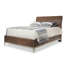 King Wood Plank Bed