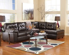Alliston Chocolate Sectional (Right Side Chaise)