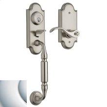 Polished Chrome Ashton Two-Point Lock Handleset