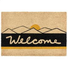 Doormat Desert Welcome Black/Gold 24x36