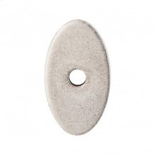 Oval Backplate 1 1/4 Inch - Pewter Antique