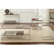 LU250 Lucia- Brown Chairside Table