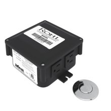 Polished Chrome Air Activated Switch Button With Control Box For Waste Disposal