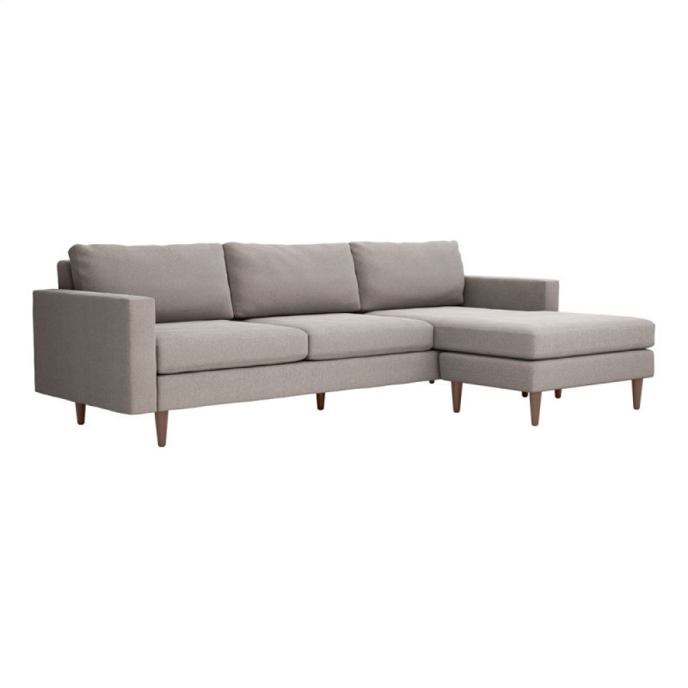 Kace Sectional Feather Gray