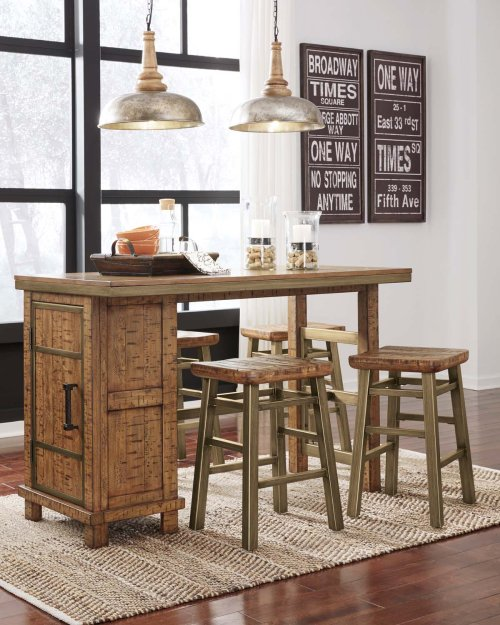Dondie - Warm Brown 3 Piece Dining Room Set