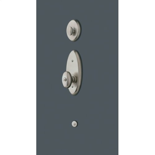 Satin Nickel with Lifetime Finish Landon Two-Point Lock Handleset