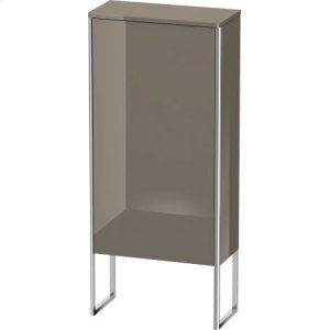 Semi-tall Cabinet Floorstanding, Flannel Gray High Gloss Lacquer