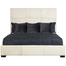 King-Sized Jasper Panel Bed in Espresso