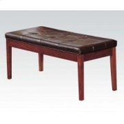Brown Cherry Bench W/esp. Pu Product Image