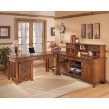 Cross Island - Medium Brown 4 Piece Home Office Set