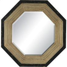 Gold/Black Octagon Mirror