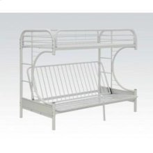 White Twin Xl/queen/futon Bunk