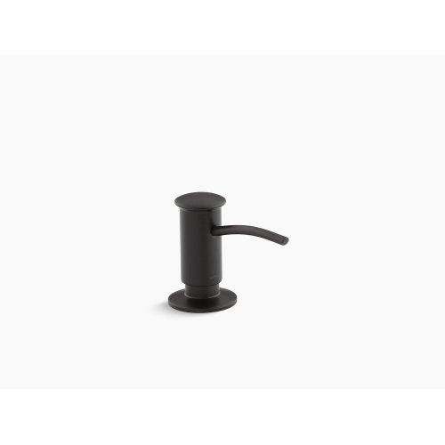 Matte Black Contemporary Design Soap/lotion Dispenser