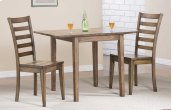 "46"" Leg Table w/ Drop Leaves and 2 Chairs"
