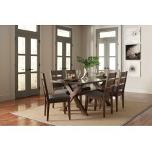 Alston Rustic Trestle Six-piece Dining Set