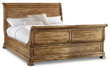King Sleigh Bed w/Sleigh Footboard