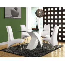 PERVIS WHITE DINING TABLE