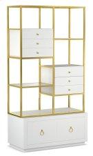 Living Room Swan Room Divider w/ File Storage Product Image