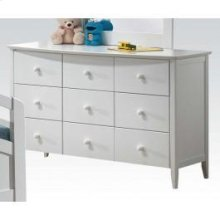 White Dresser W/6 Drawers