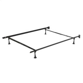 Restmore Adjustable PL45G Posi-Lock Bed Frame with Headboard Brackets and (4) 2.5-Inch Glide Legs, Twin / Full