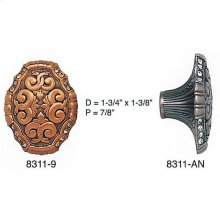 Belleview Knob Clear Crystal/ See Back Plate 8325