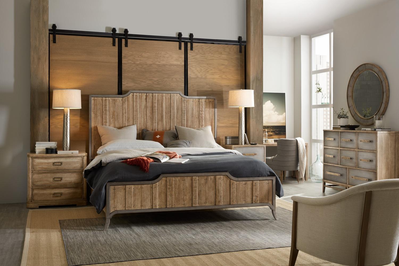 Steigerhouten halfhoogslaper met bureau bed en bureau de