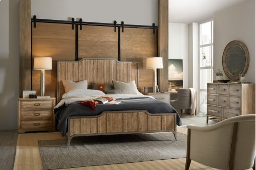 Bedroom Urban Elevation King Wood Panel Bed