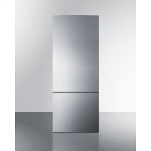 SummitFrost-free Energy Star Certified Bottom Freezer Refrigerator In Stainless Steel With Digital Controls and A Counter Depth Fit