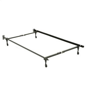 Sentry 78C Adjustable Bed Frame with Headboard Brackets and (4) Caster Legs, Twin / Full