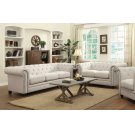 Roy Traditional White Two-piece Living Room Set Product Image