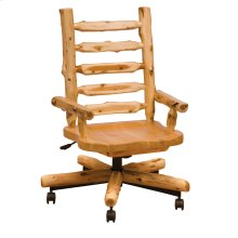 Cedar Executive Chair with Contoured Wooden Seat