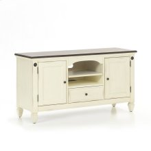 "Glennwood 54"" TV Console  White & Charcoal"