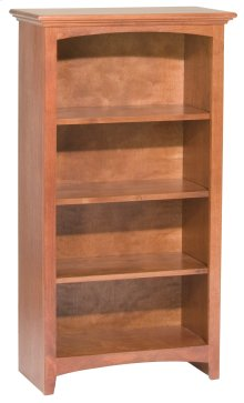 """GAC 48""""H x 24""""W McKenzie Alder Bookcase in Antique Cherry Finish"""