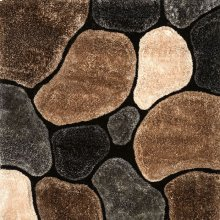 Frederiction 5' X 7' Gray & Beige Area Rug