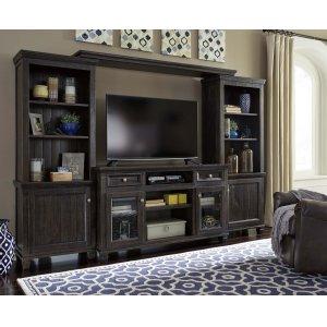 Ashley Furniture Townser - Grayish Brown 4 Piece Entertainment Set