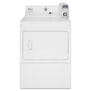 WhirlpoolCommercial Gas Super-Capacity Dryer, Coin-Slide and Coin-Box White