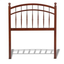 Bailey Wood Headboard Panel with Intricate Spindles and Soft Curved Top Rail, Oak Finish, Twin