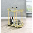 Traditional Brass Serving Cart Product Image